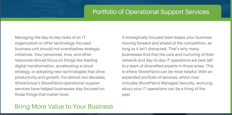 IT operational support services
