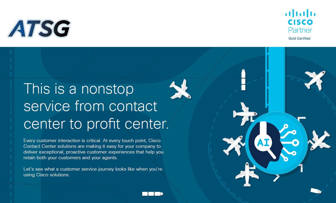 non stop service from contact center to profit center